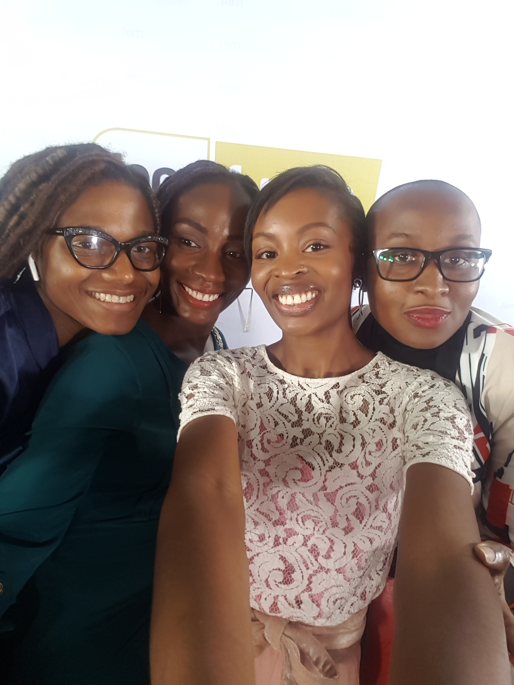 Femfunds Workshop selfie with my panelists