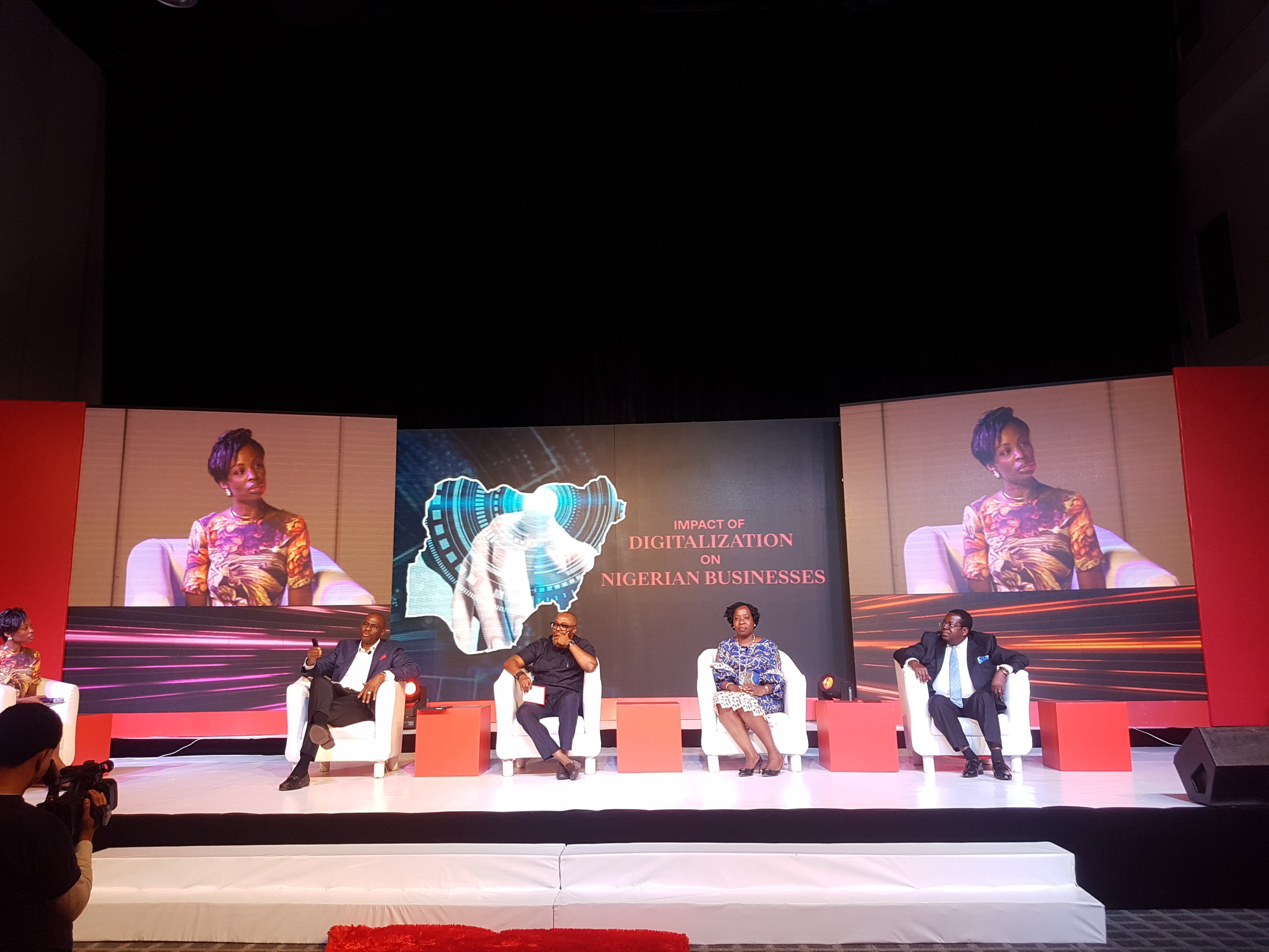 Moderating a panel at the Ogilvy Nigeria Launch Event