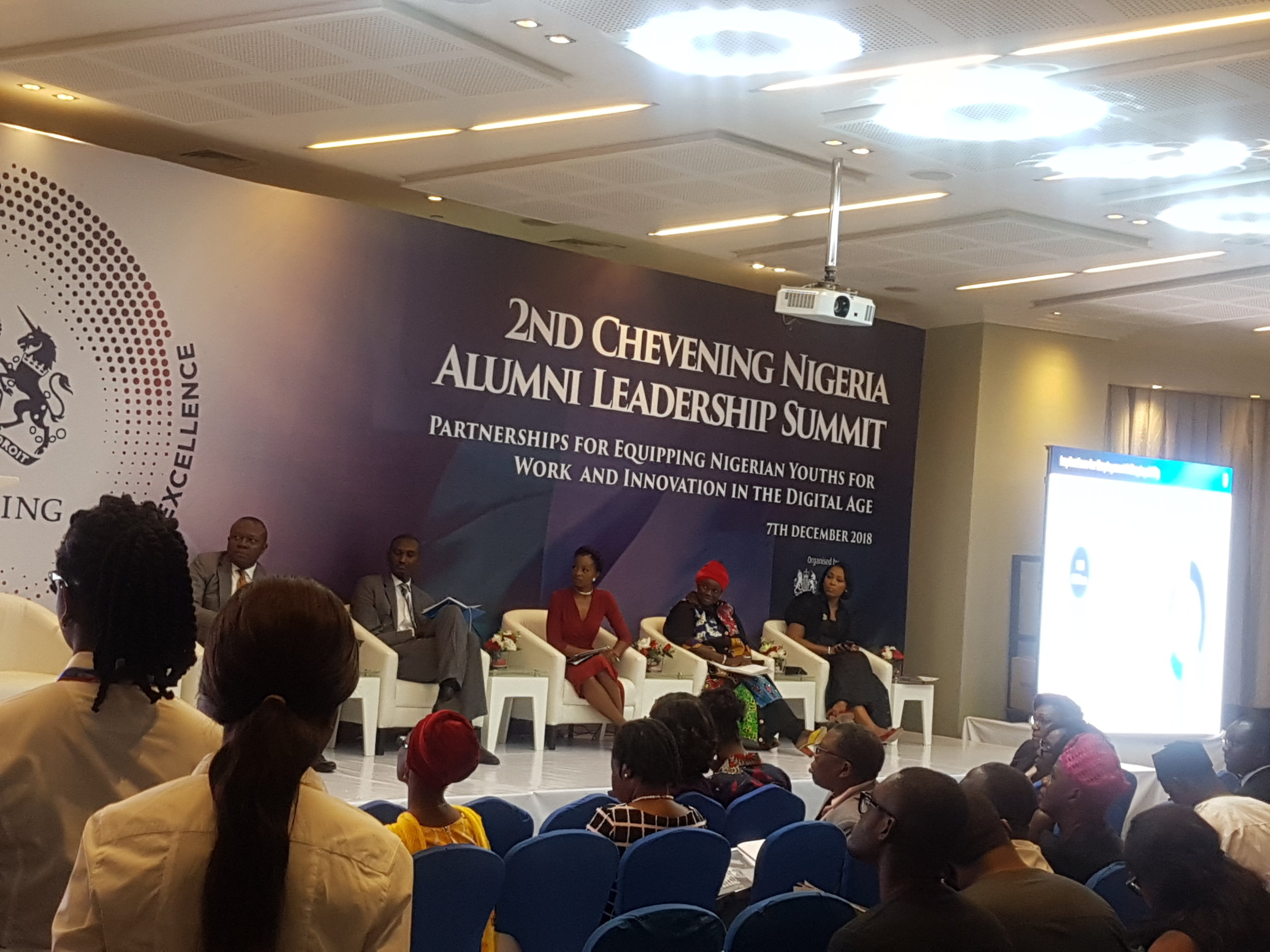 Moderating a panel at the Chevening Nigeria Alumni Summit
