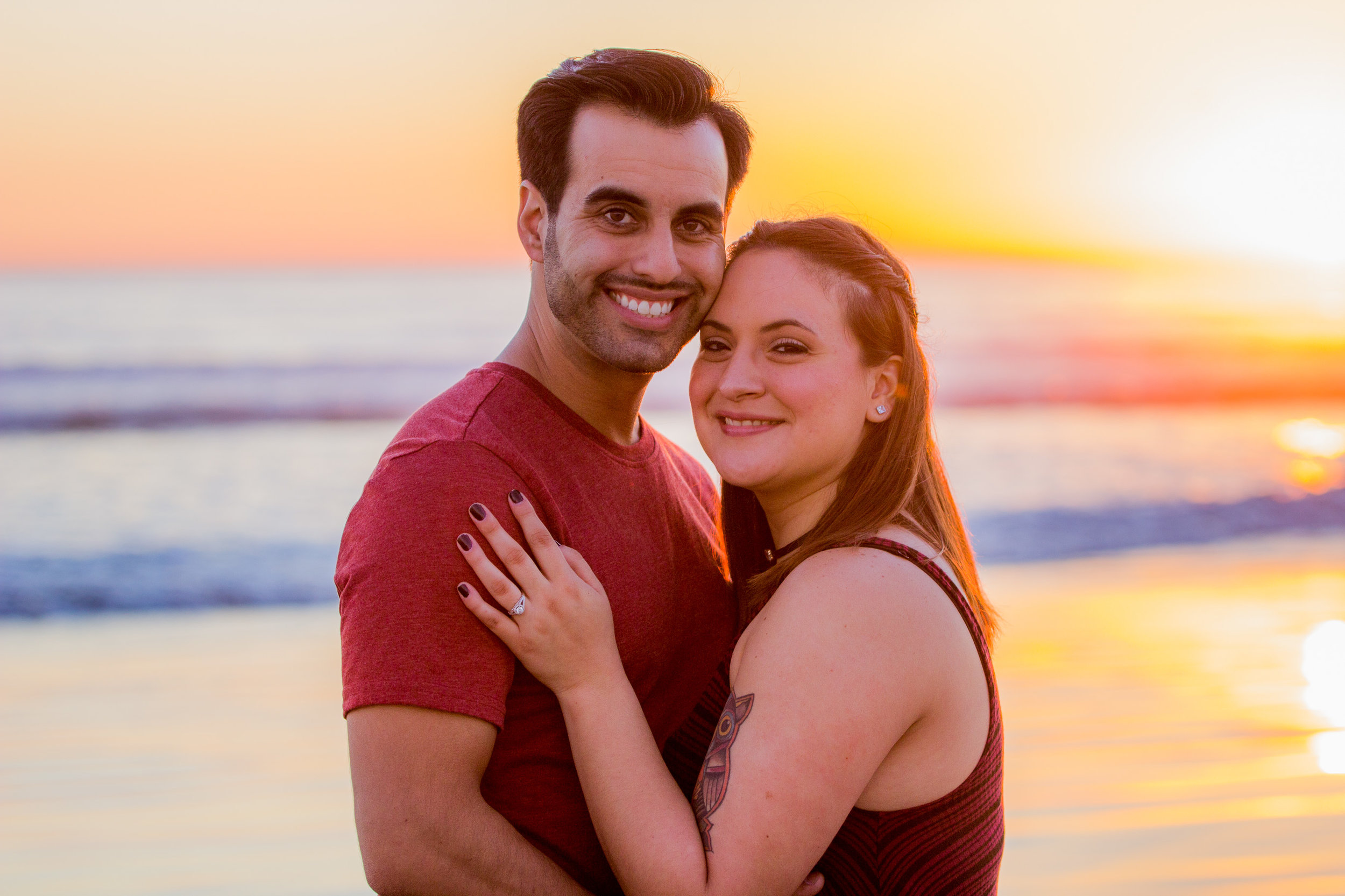 coronado-beach-california-sunset-engagement-session-black-and-white-photos-san-diego-wedding-photography