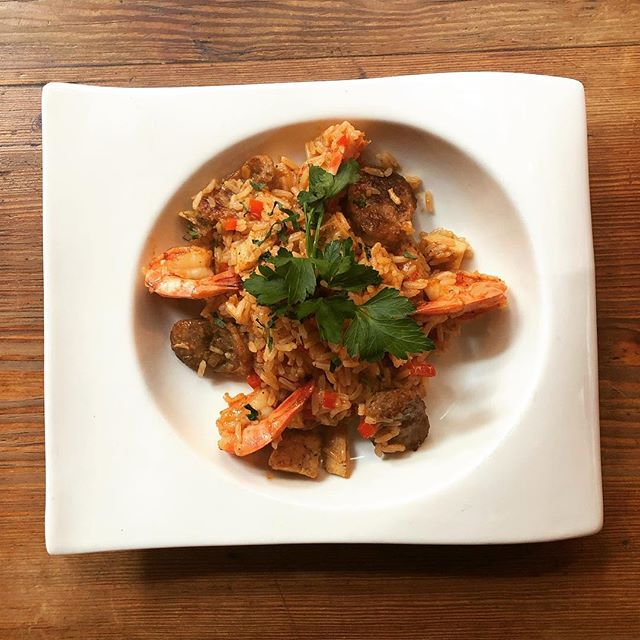 Jambalaya is on the menu tonight in celebration of Mardi Gras. Come enjoy this hearty entree! #jambalaya #onieals #specials #newyork #soho #littleitaly #chinatown #restaurant #bar #beer #wine #cocktails #cheers