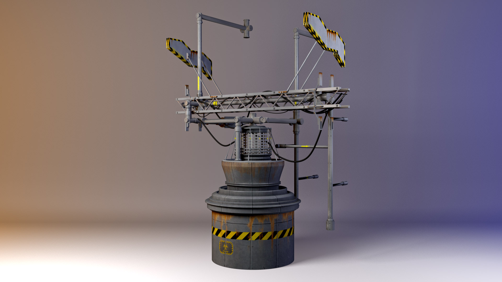 Post-Processing Prop. Modeled in Maya. Rendered in Mental Ray.
