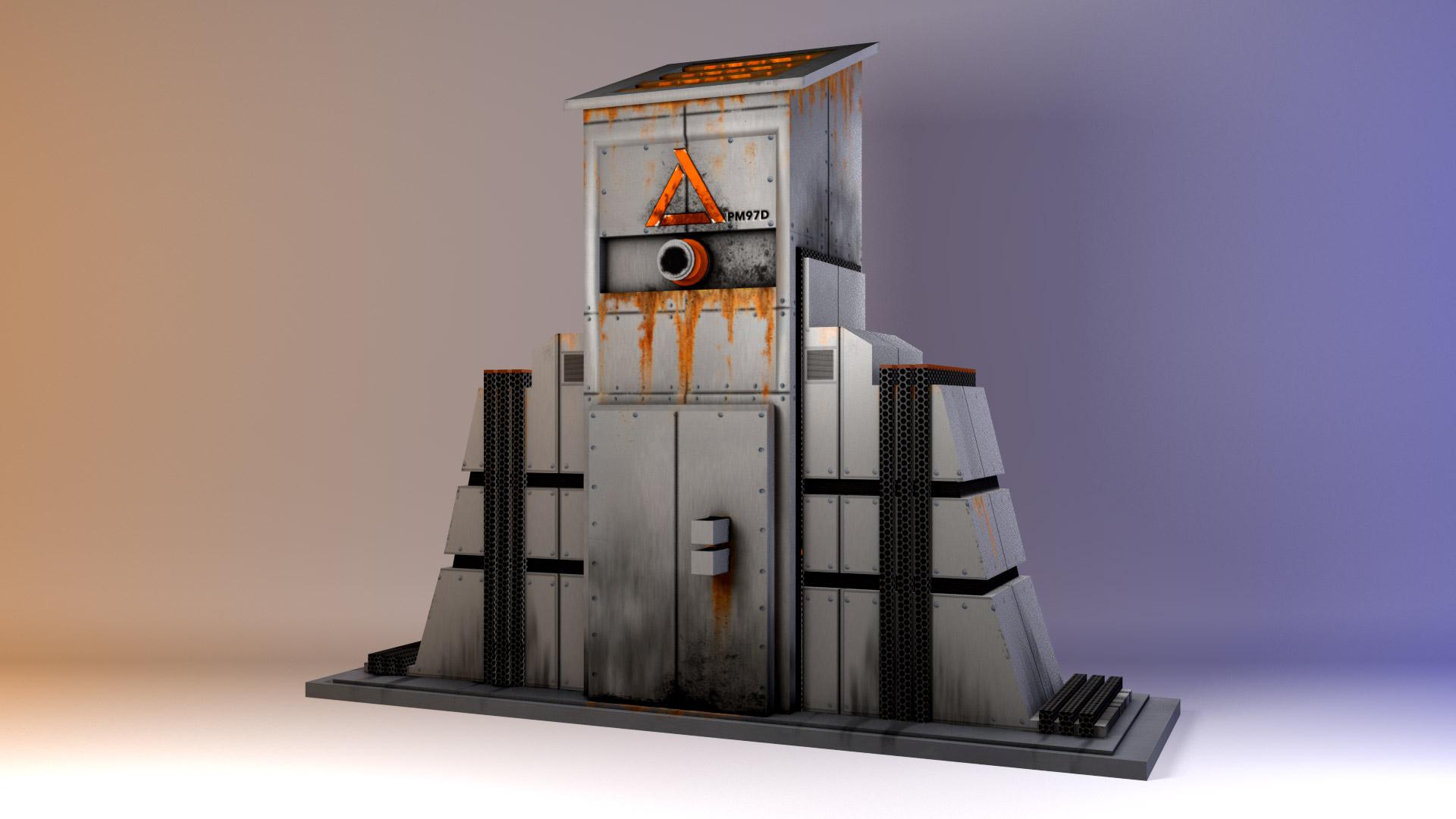 Pillar Prop modeled in Maya. Rendered in Mental Ray.