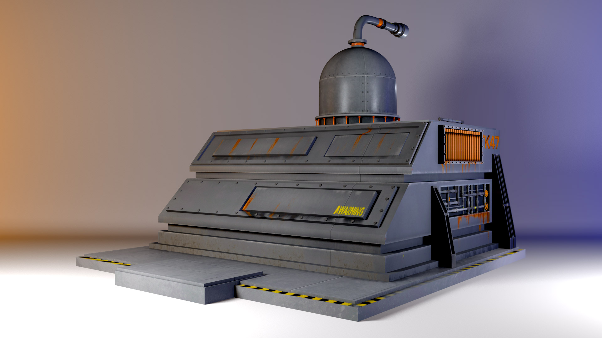Pre-Processing Prop. Modeled in Maya. Rendered in Mental Ray.