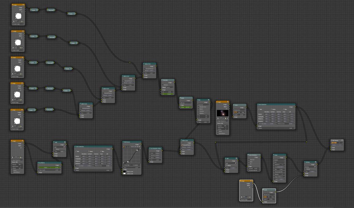 Blender Compositor Bokeh Blur and Glare Node Network
