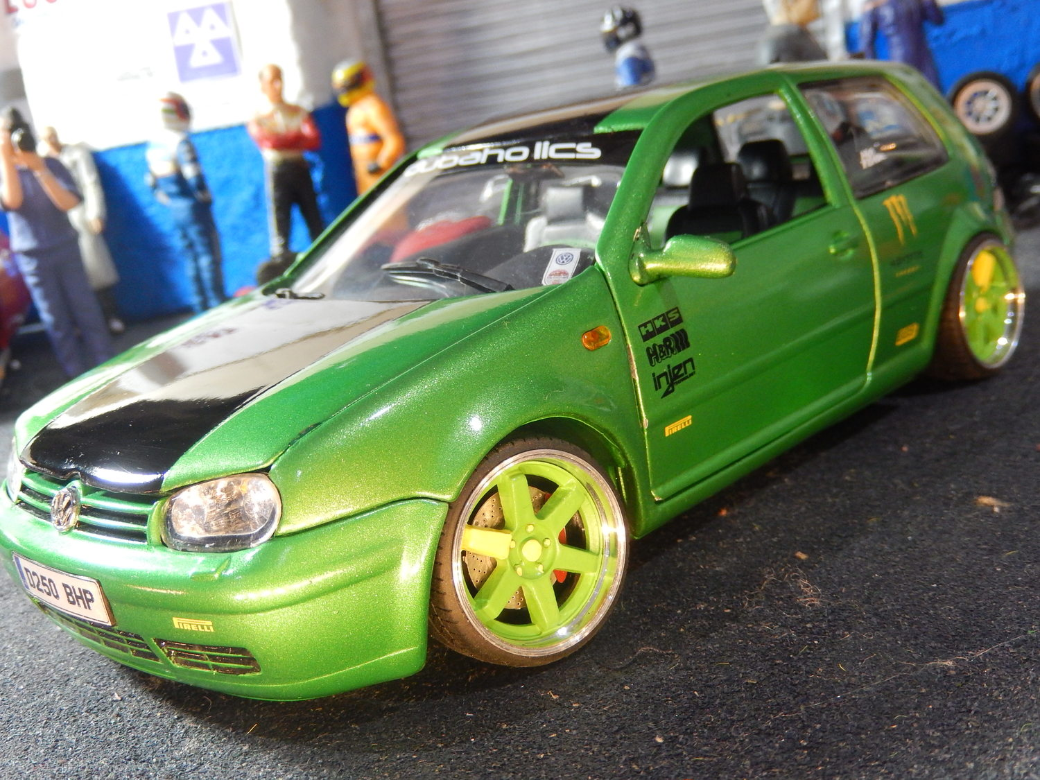 Vw Golf Mk4 3 2l V6 Boxed 1 18 Scale Total One Off Modified Tuning Cs Diecast Tuning