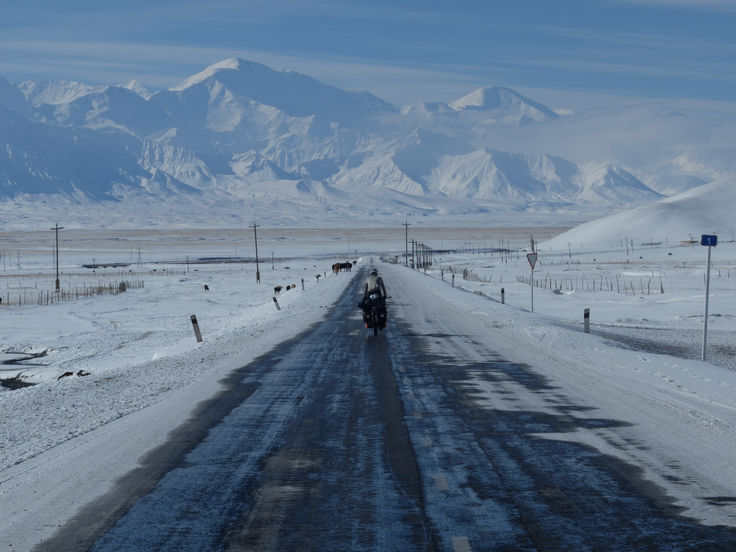 Leaving Sary Tash into the Pamir proper