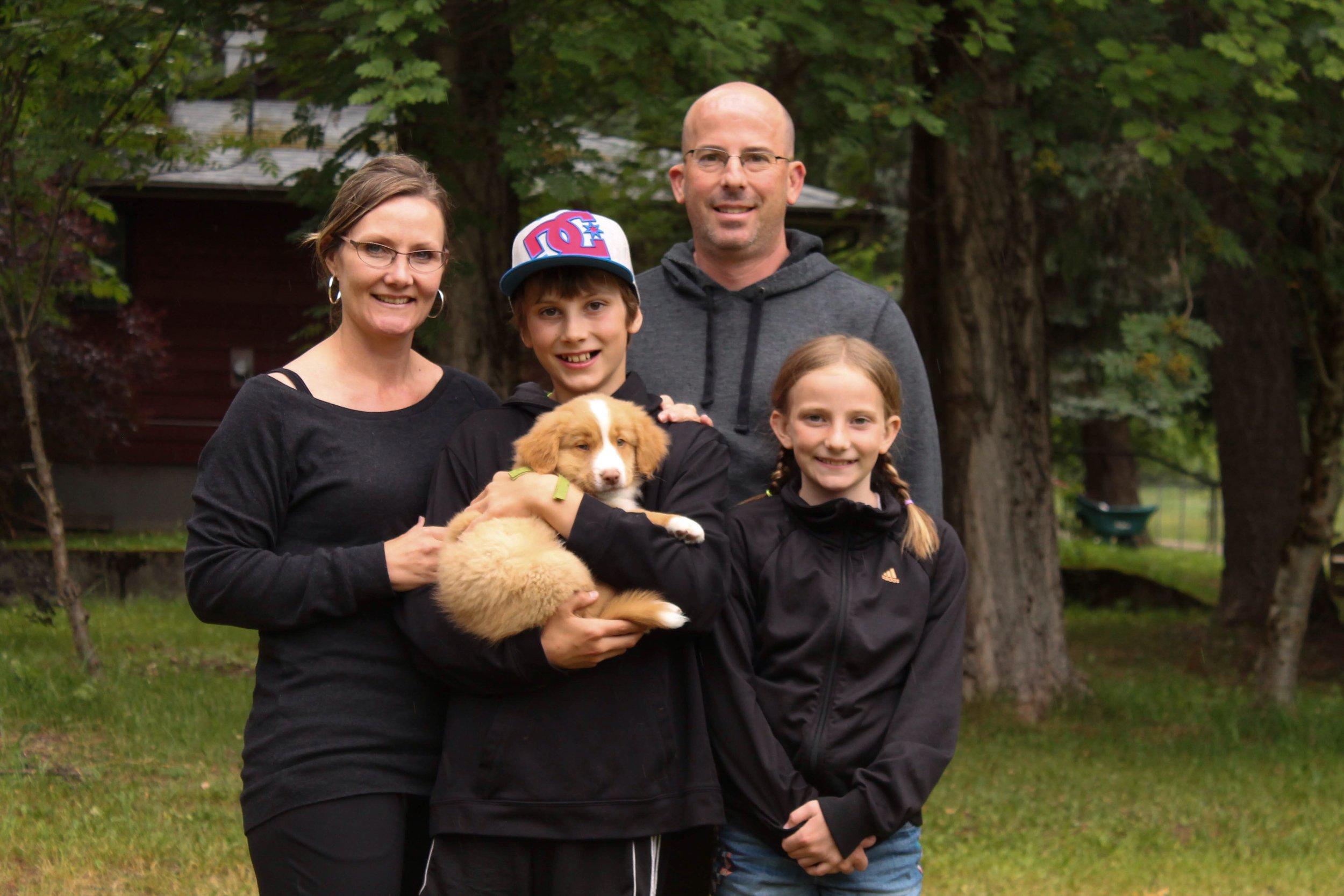 Melisa and Jason with Blake, Hannah and baby Charlie.