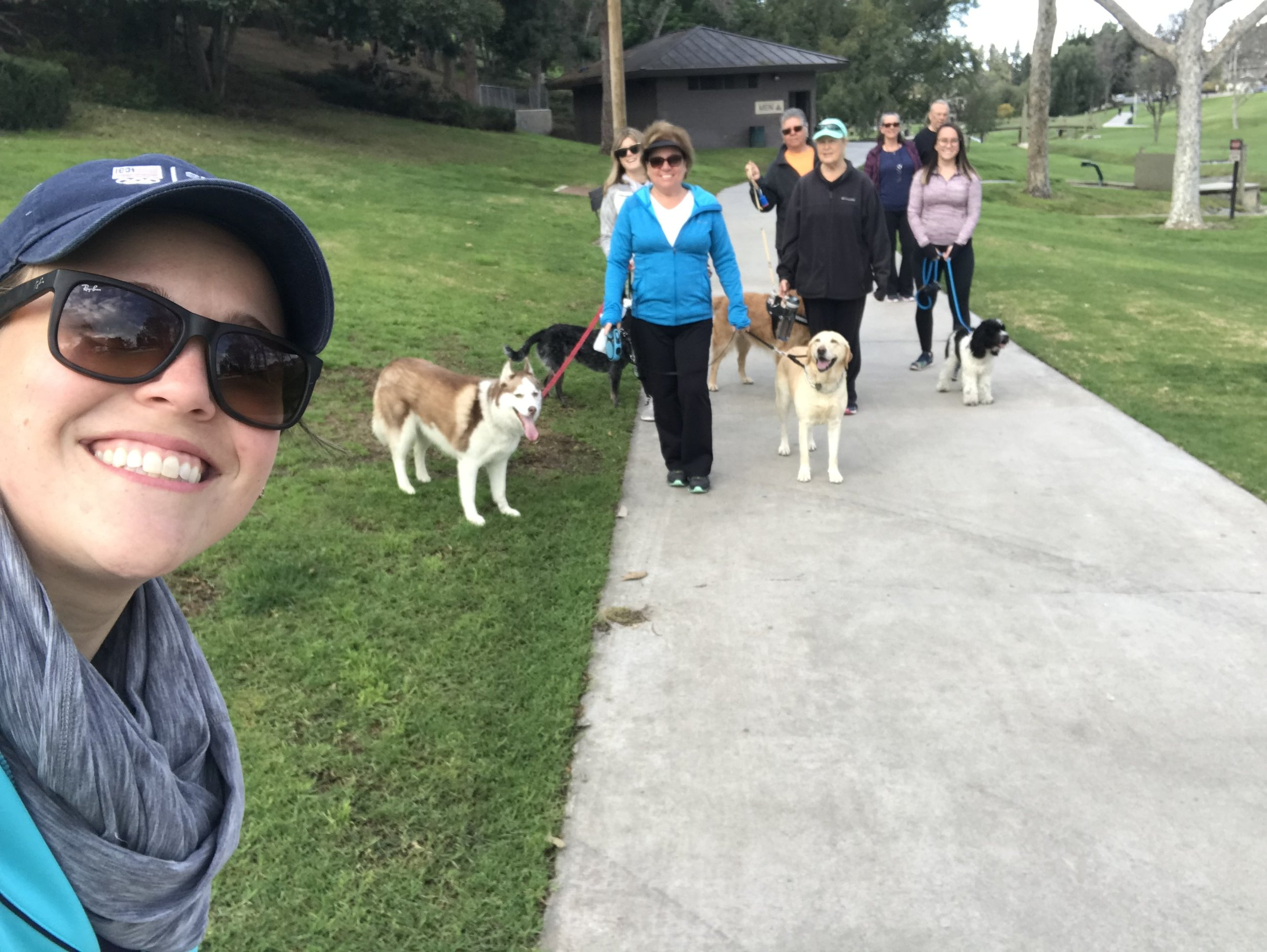 March - Walk with the Doc and dogs! Always a great time walking, talking and enjoying beautiful Creek Park with our furry friends.