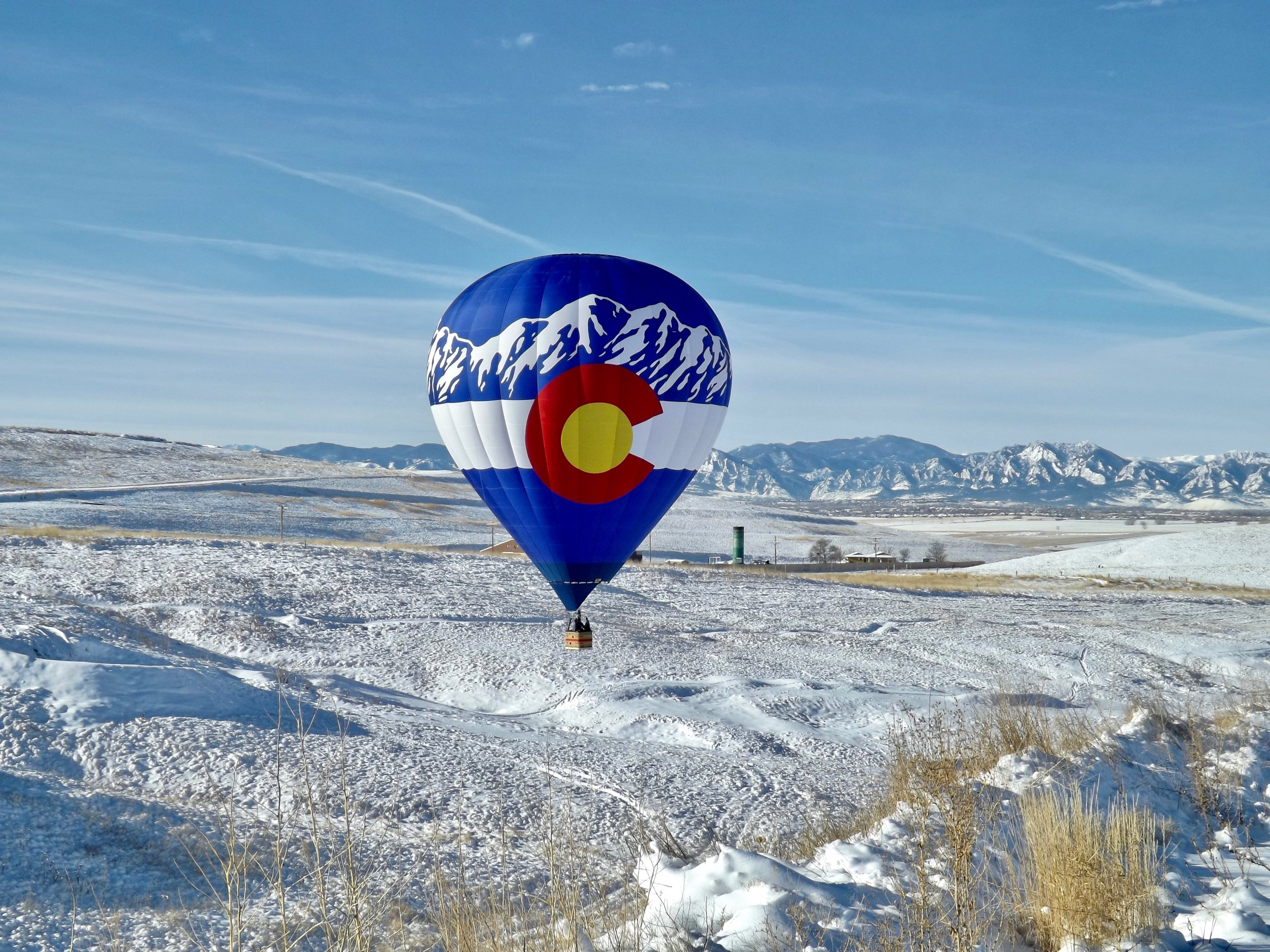 Beautiful WInter hot air balloon flight!