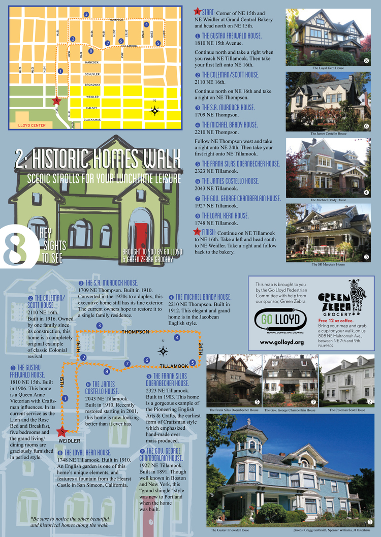 Historic Homes Walk Map