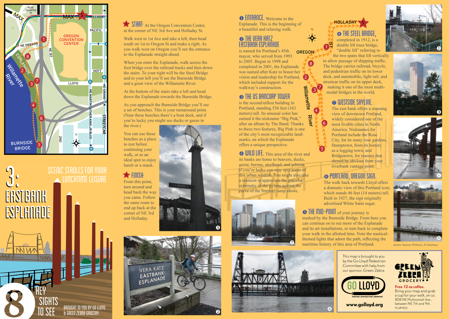 Eastbank Esplanade Walk Map