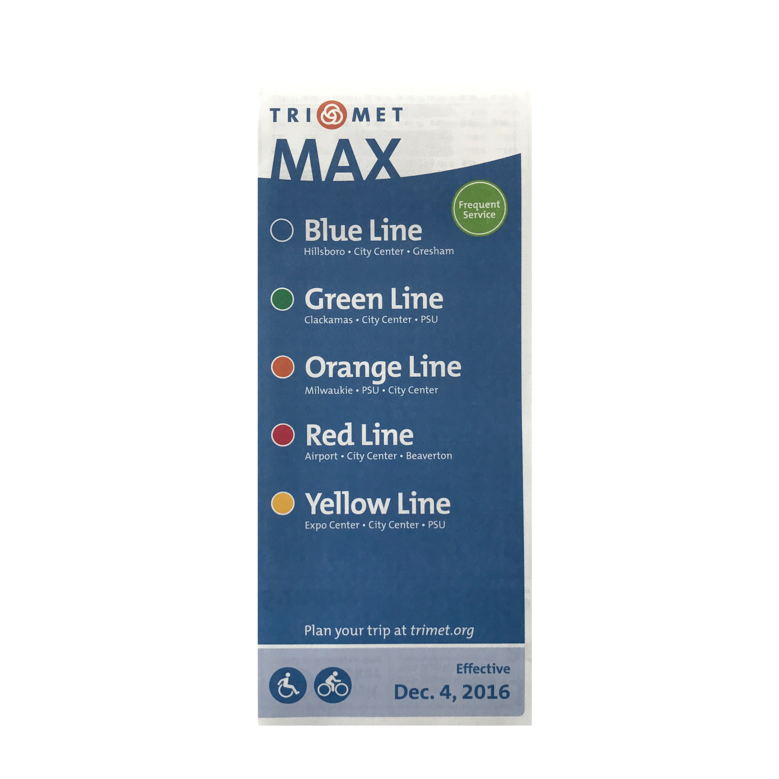TriMet Max Line Schedules