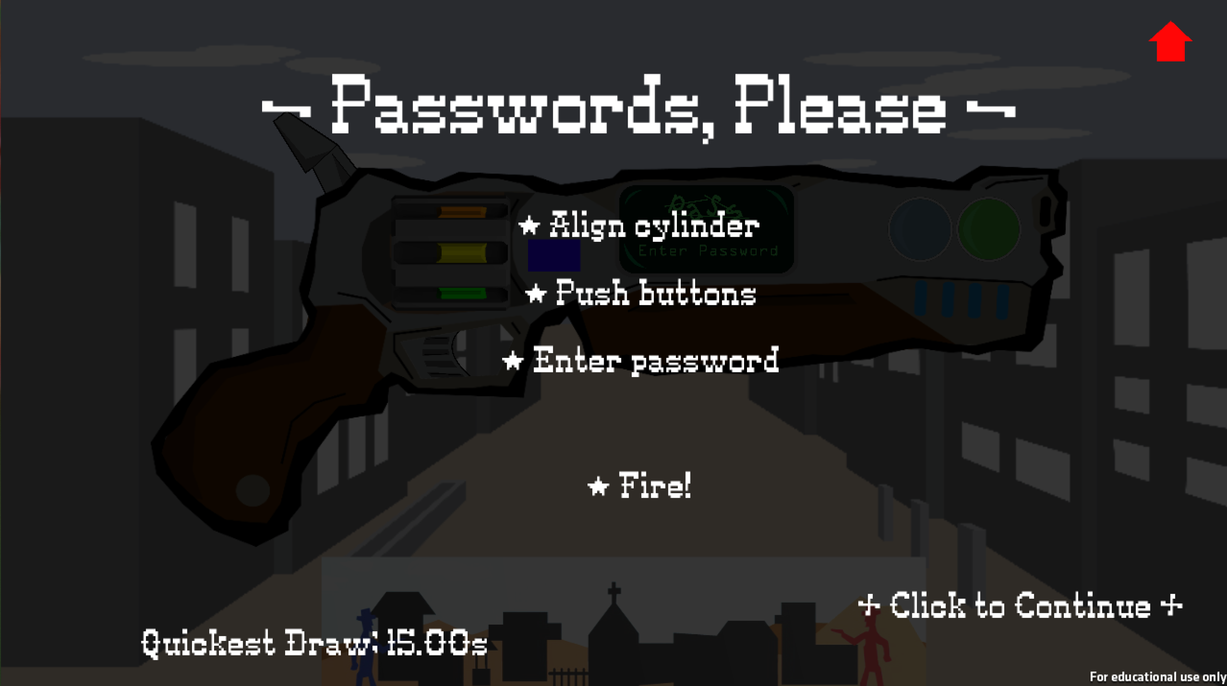 First Appearance of Password Puzzle