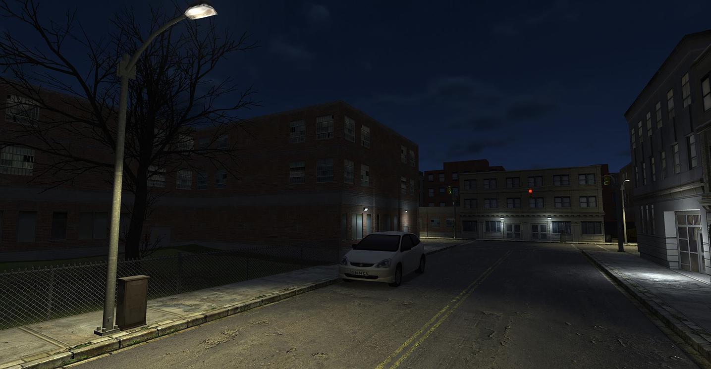 """Atmospheric """"Street at Night"""" Shot"""