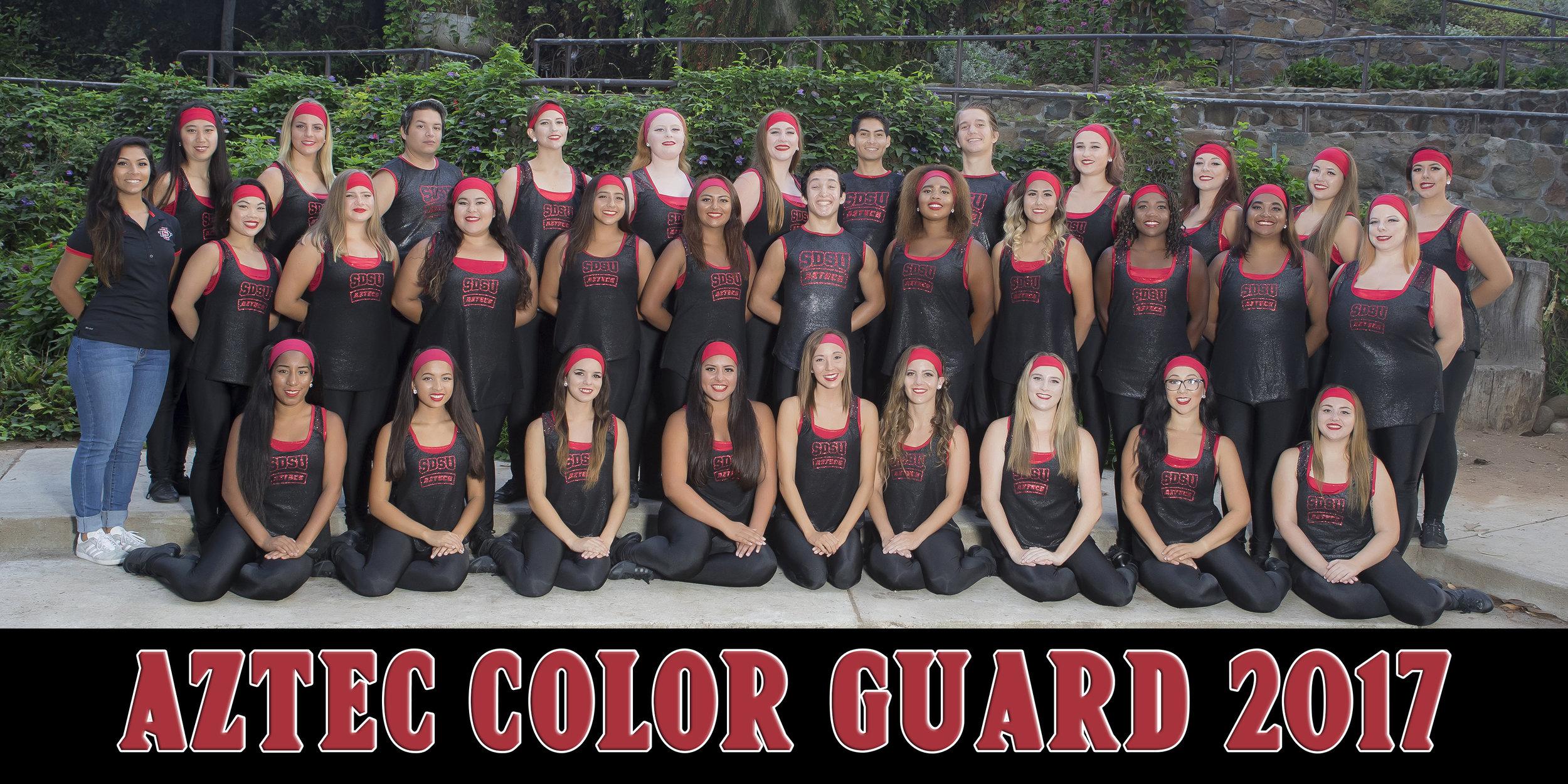 SDSU Fall Color Guard 2017