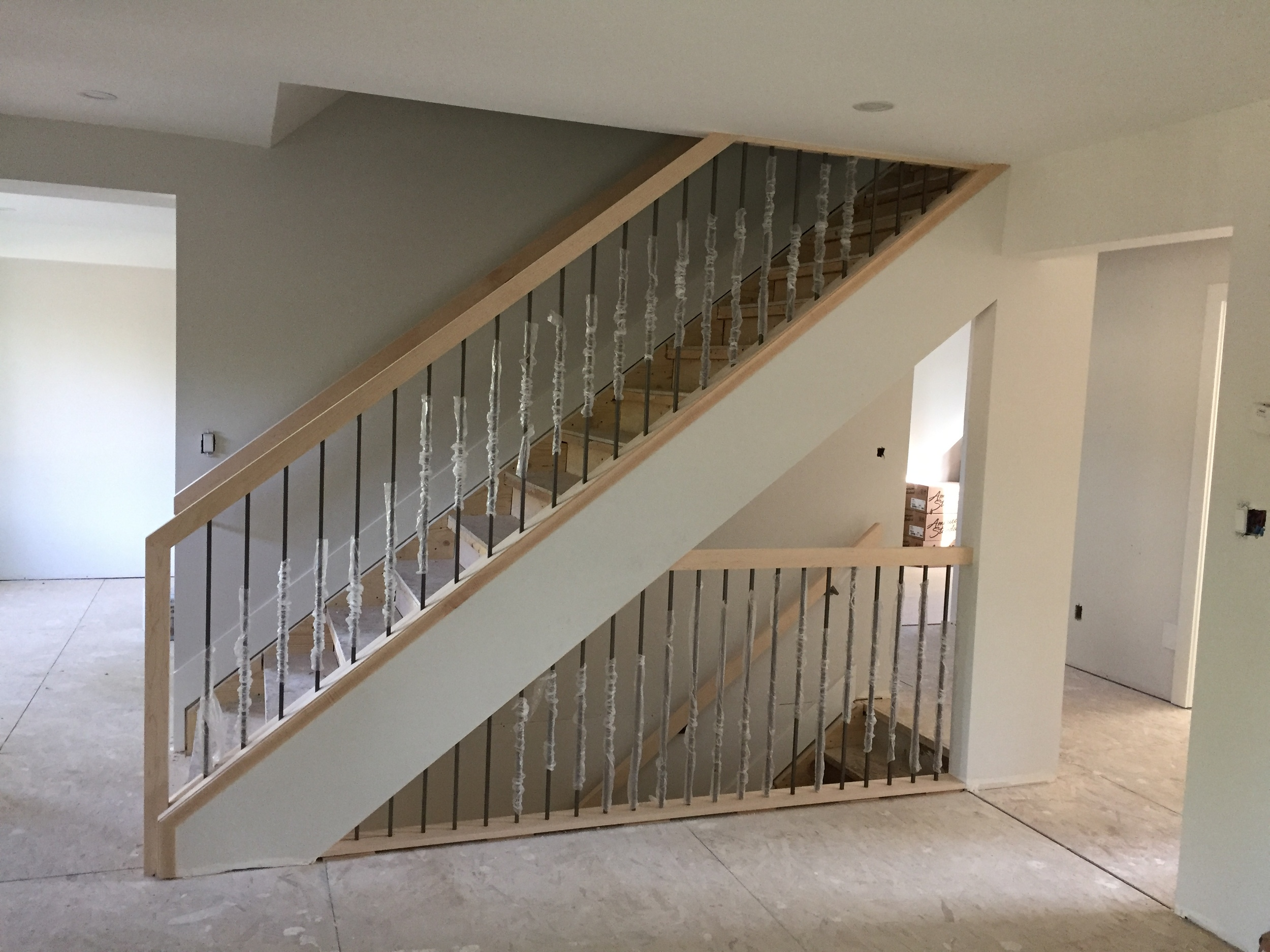 Stair Rail - New & waiting for stain