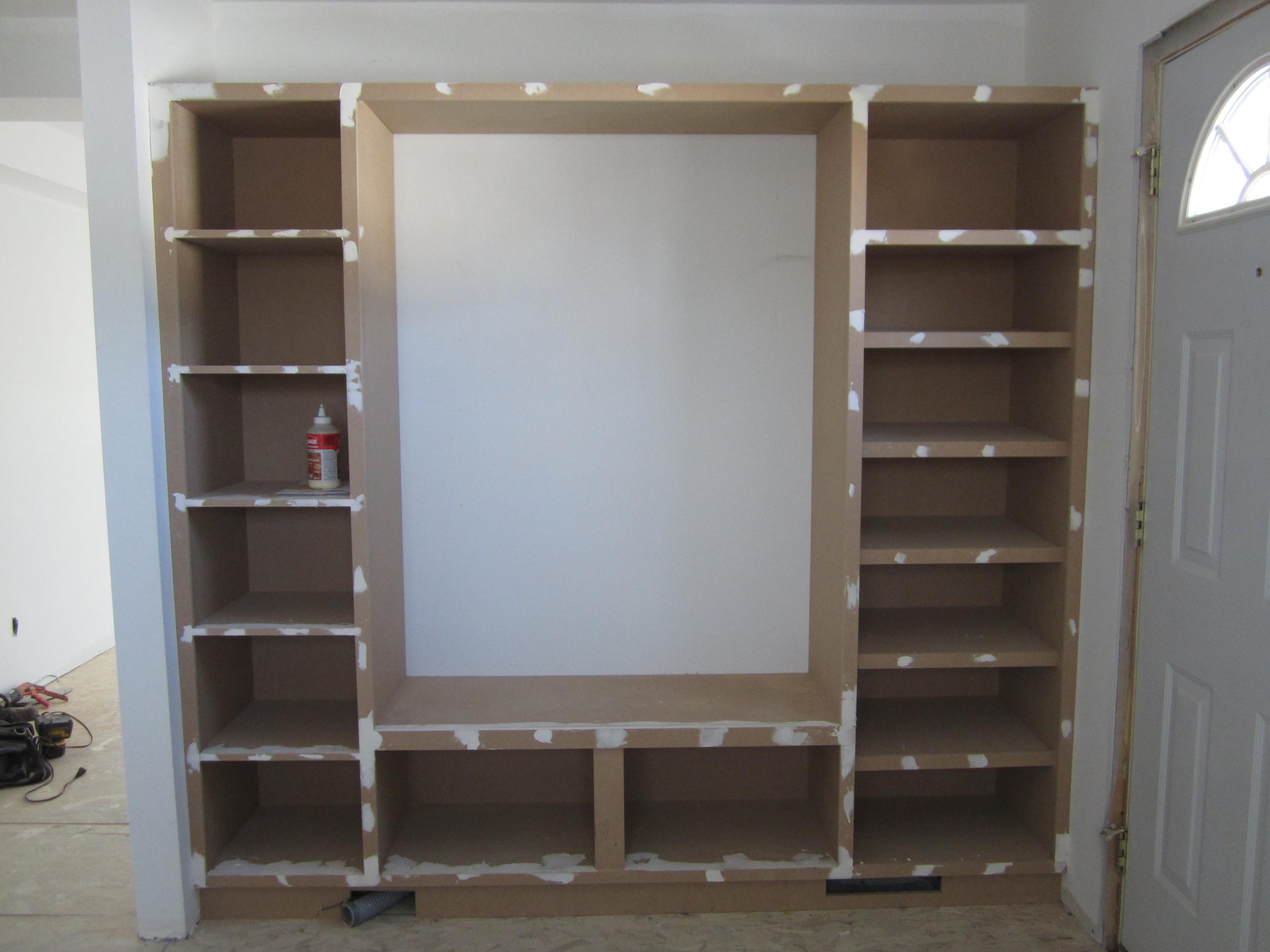 Travis built this custom locker unit for the mudroom entrance.
