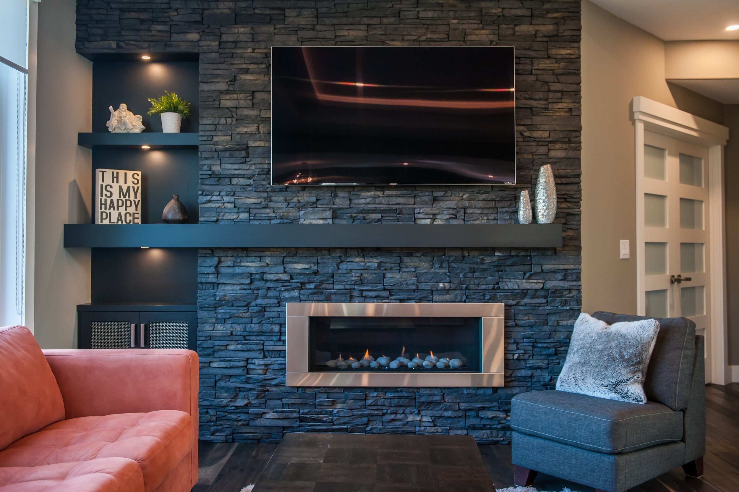 fireplace reno dark