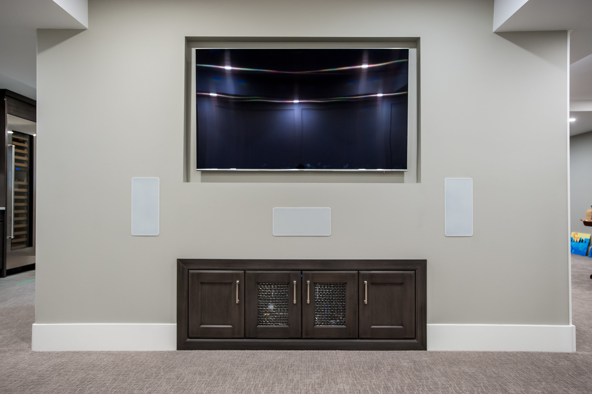 basement tv built in