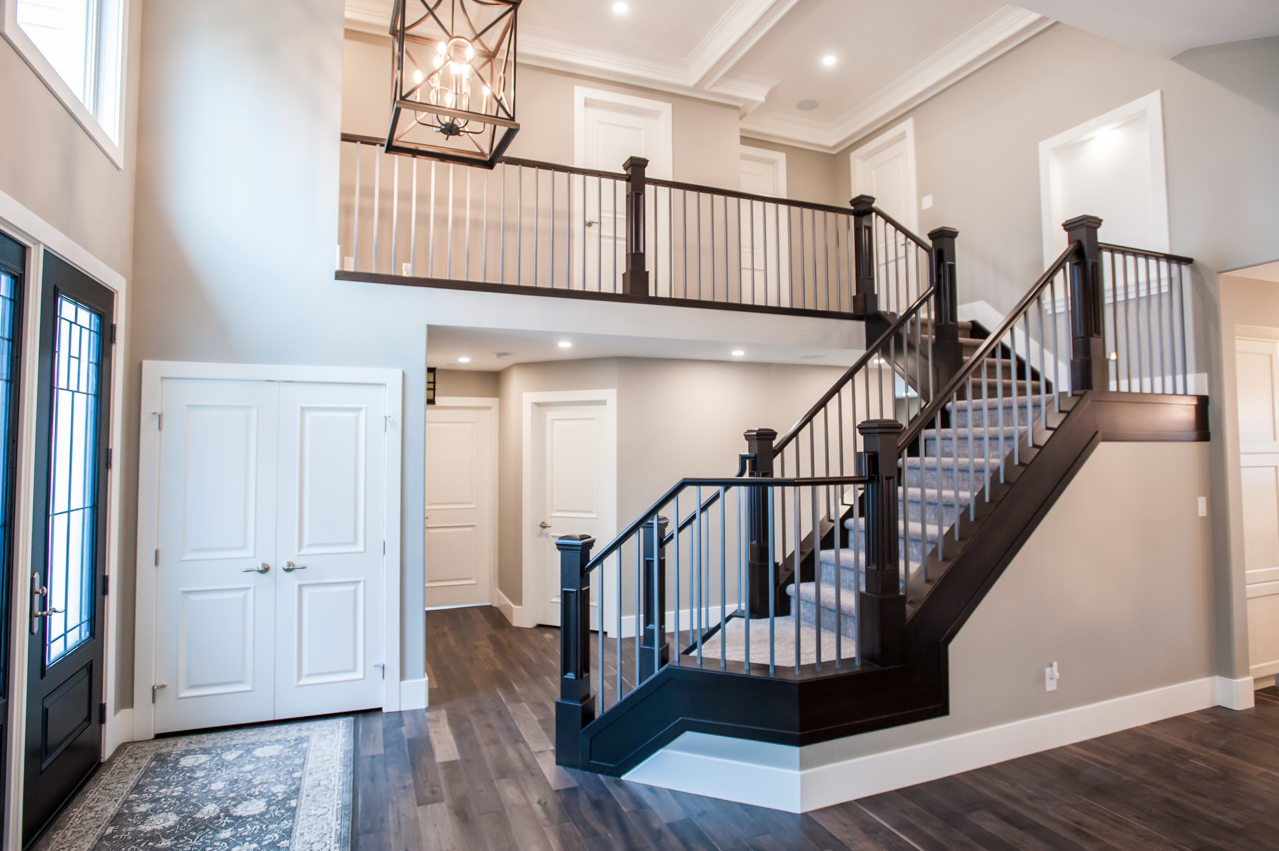 entrance stairs open traditional reno