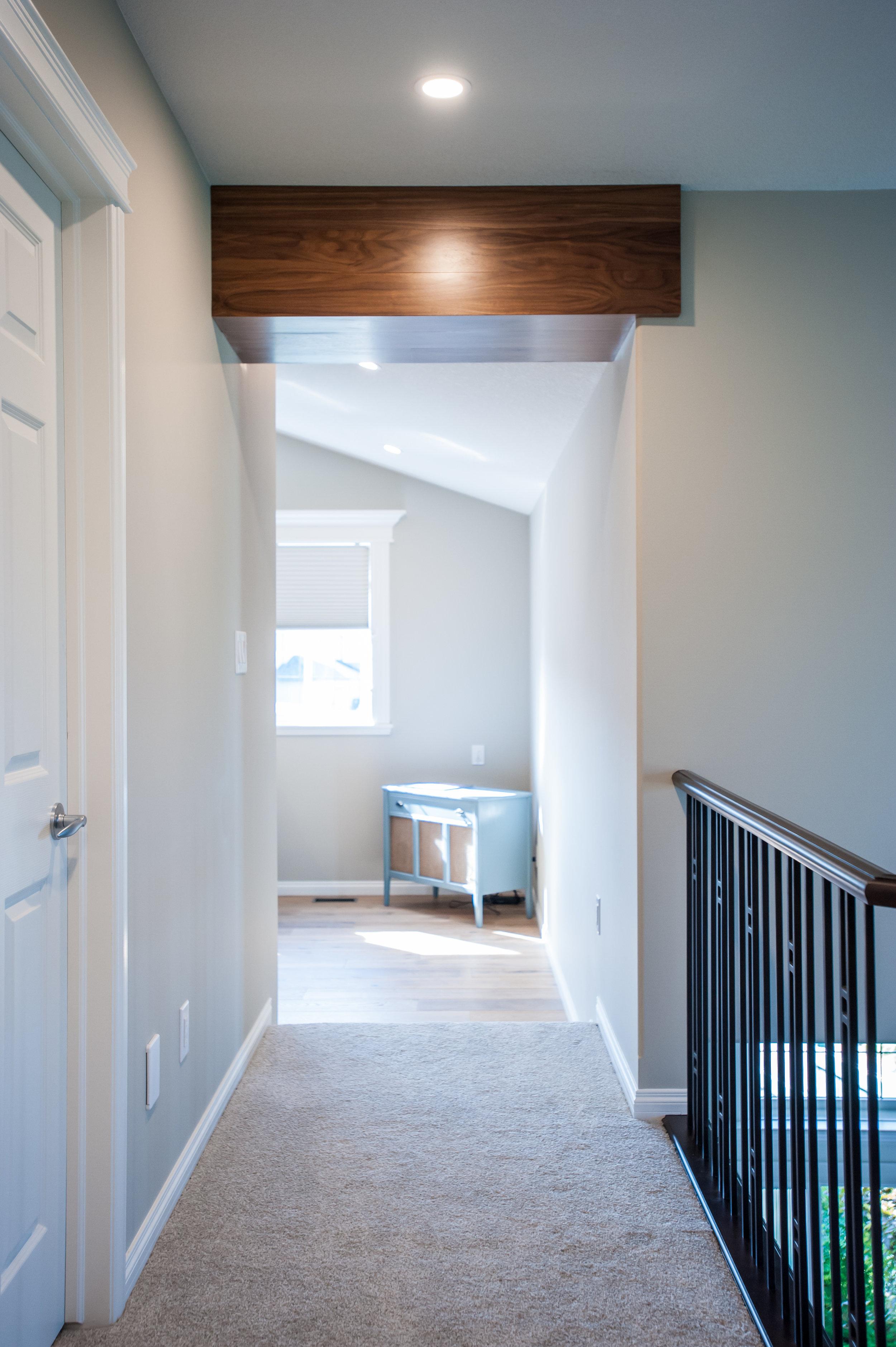 walnut_beam_bonus_room_hallway_renovation