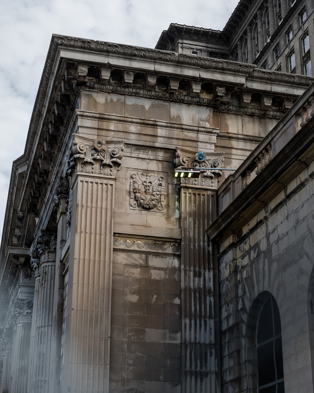 Details of the once abandoned Detroit Train Station.