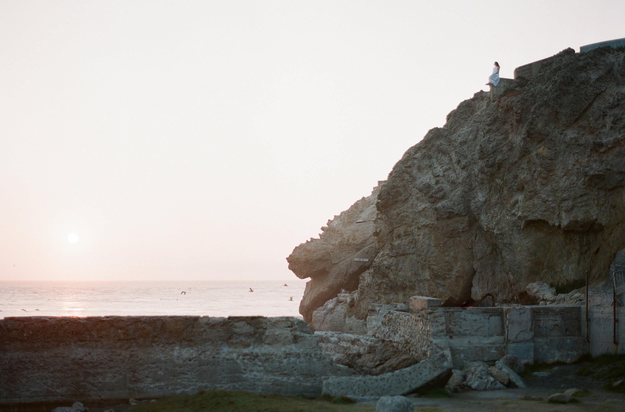 Brandon Sampson Photography. Sutro Baths Cliffside Portrait Session. San Francisco, California. Film Photography.