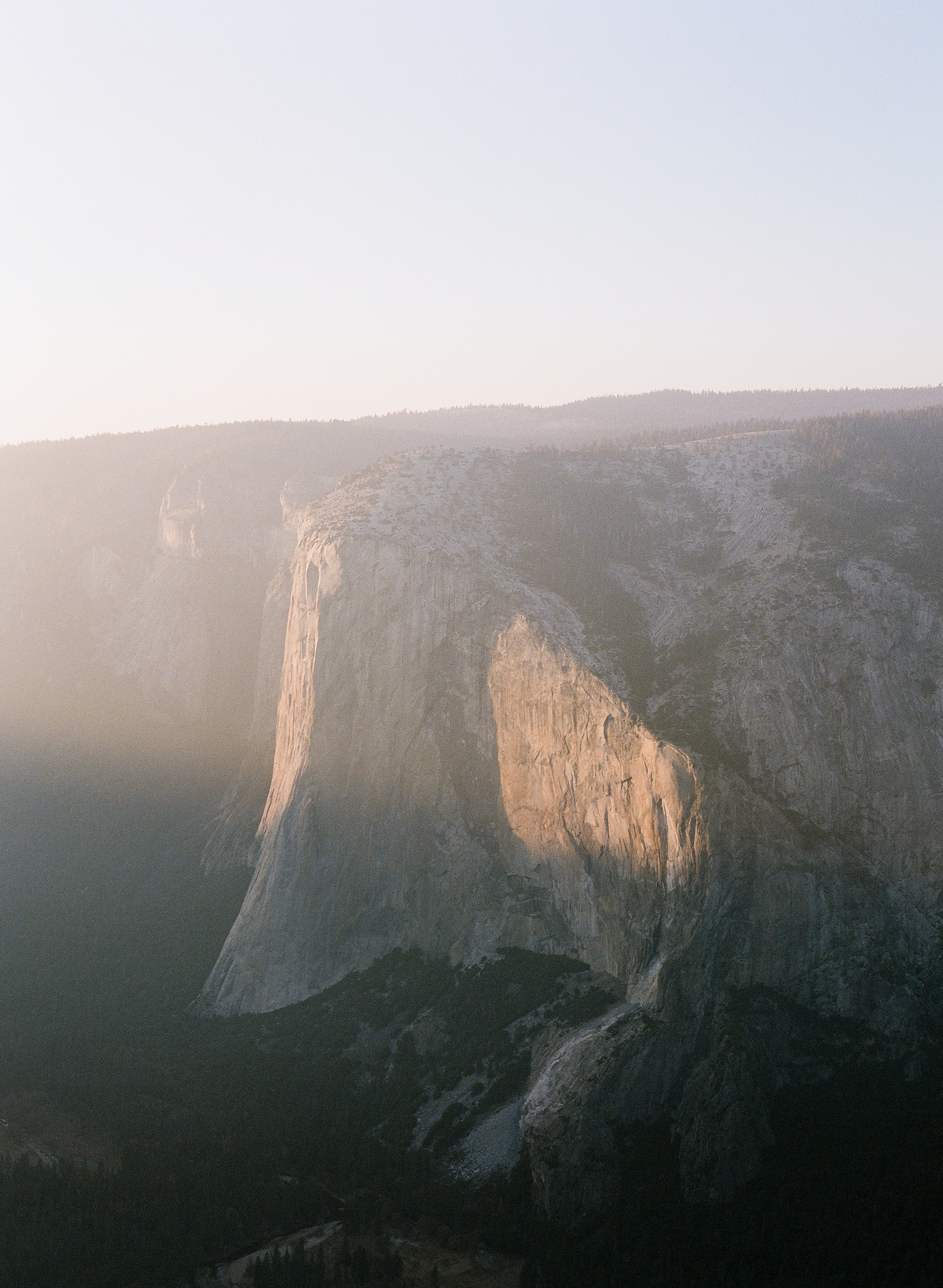 El Capitan From Taft Point At Sunset, Smoke