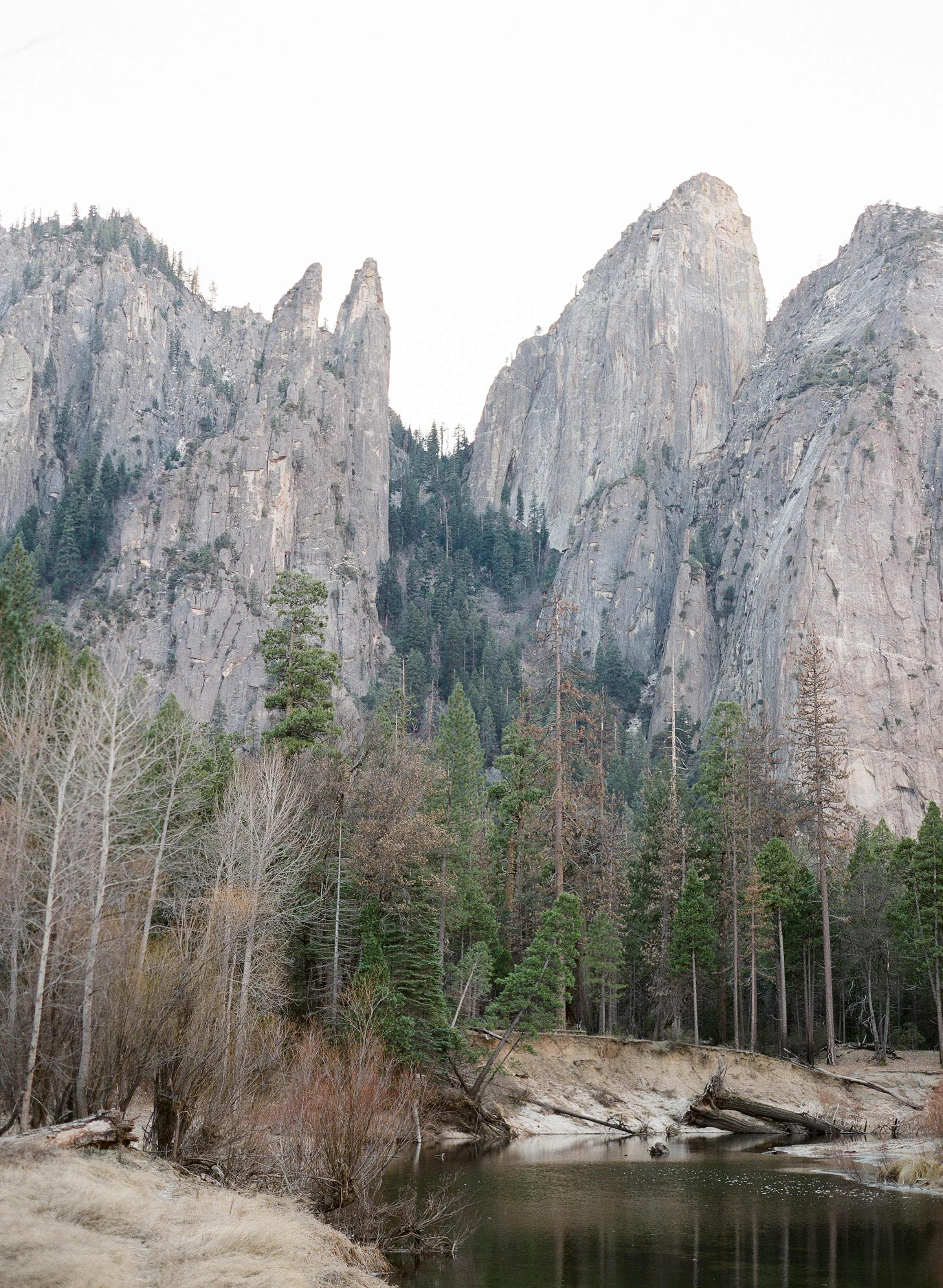 Cathedral On The Merced, Yosemite Valley