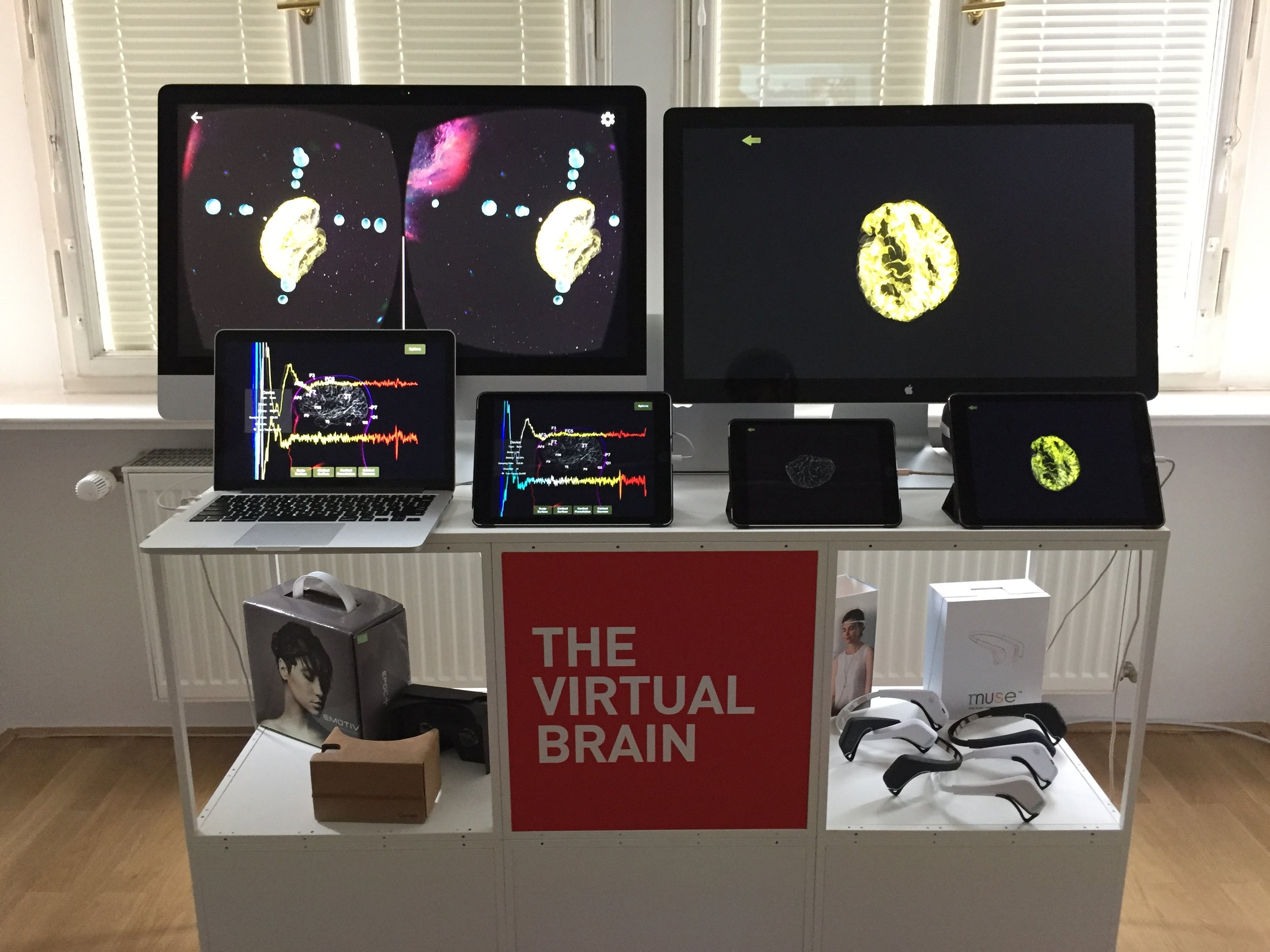 BrainModes real time mobile applications powered by The Virtual Brain on display at the Opening of the new Einstein Centre.