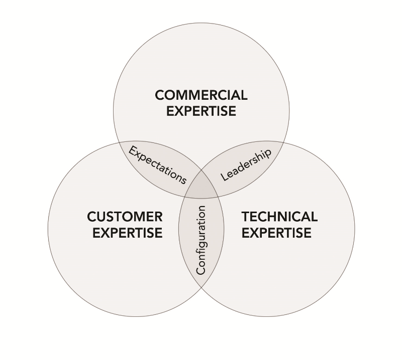 Figure 1: The DNA of a successful bid team contains the right mix of specialists with commercial, technical and customer expertise