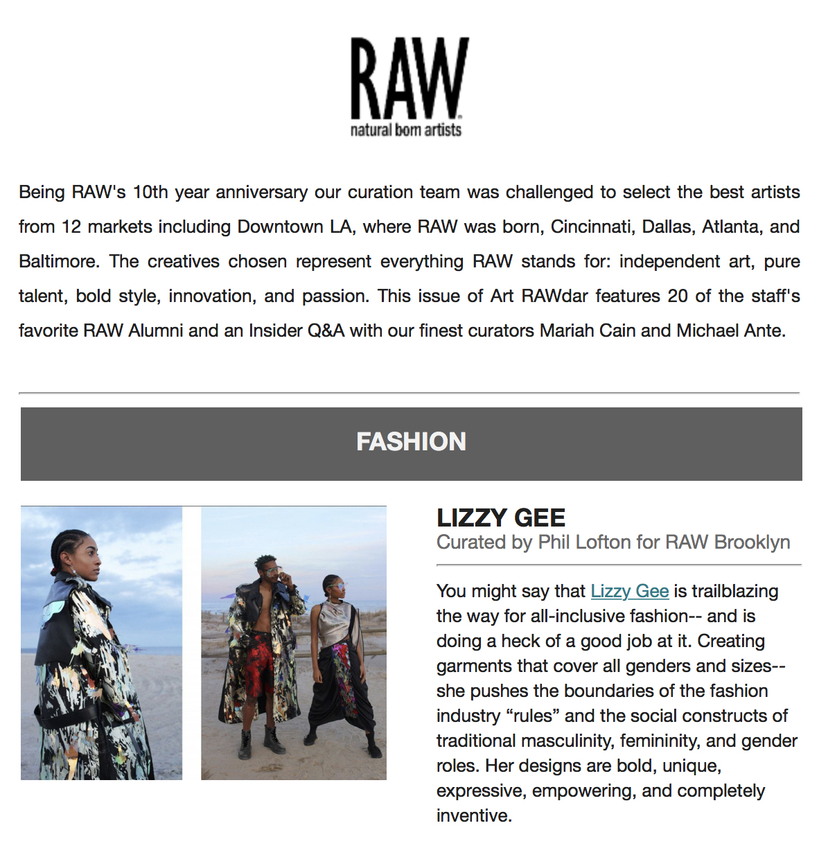 RAW Artist Feature March 2019