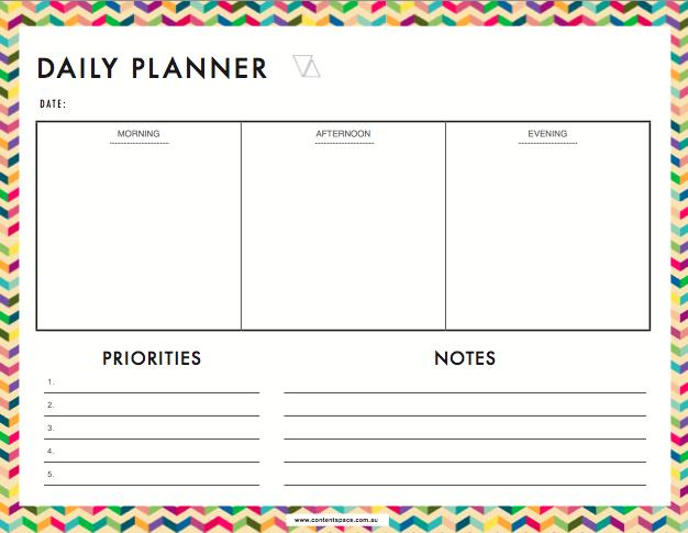Free daily planner for entrepreneurs