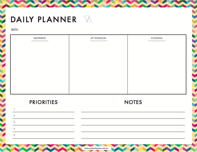 Free daily planner