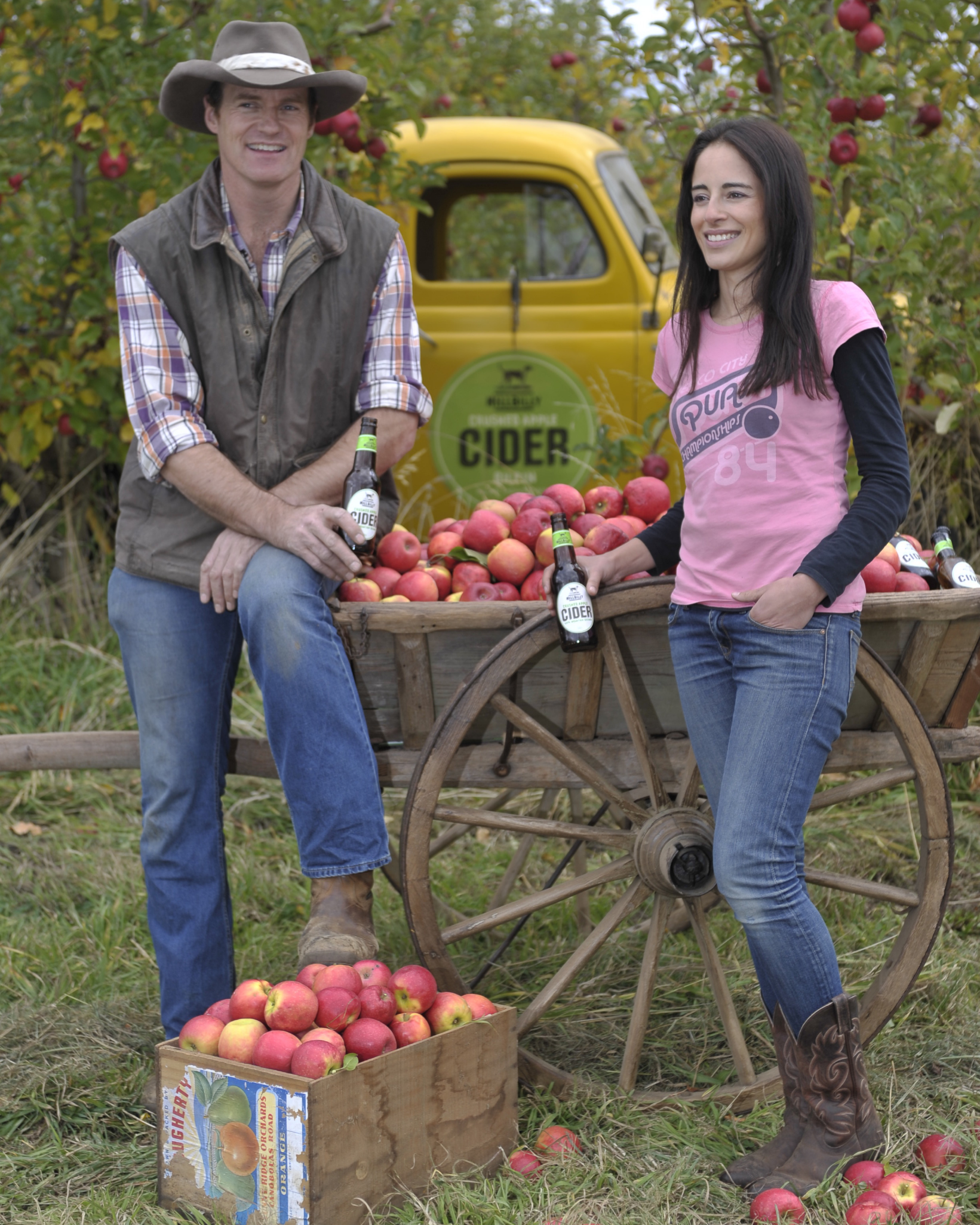 Shane and Tessa McLaughlin, owners of Hillbilly Cider