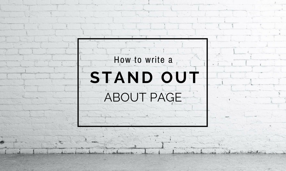 How to write an About page