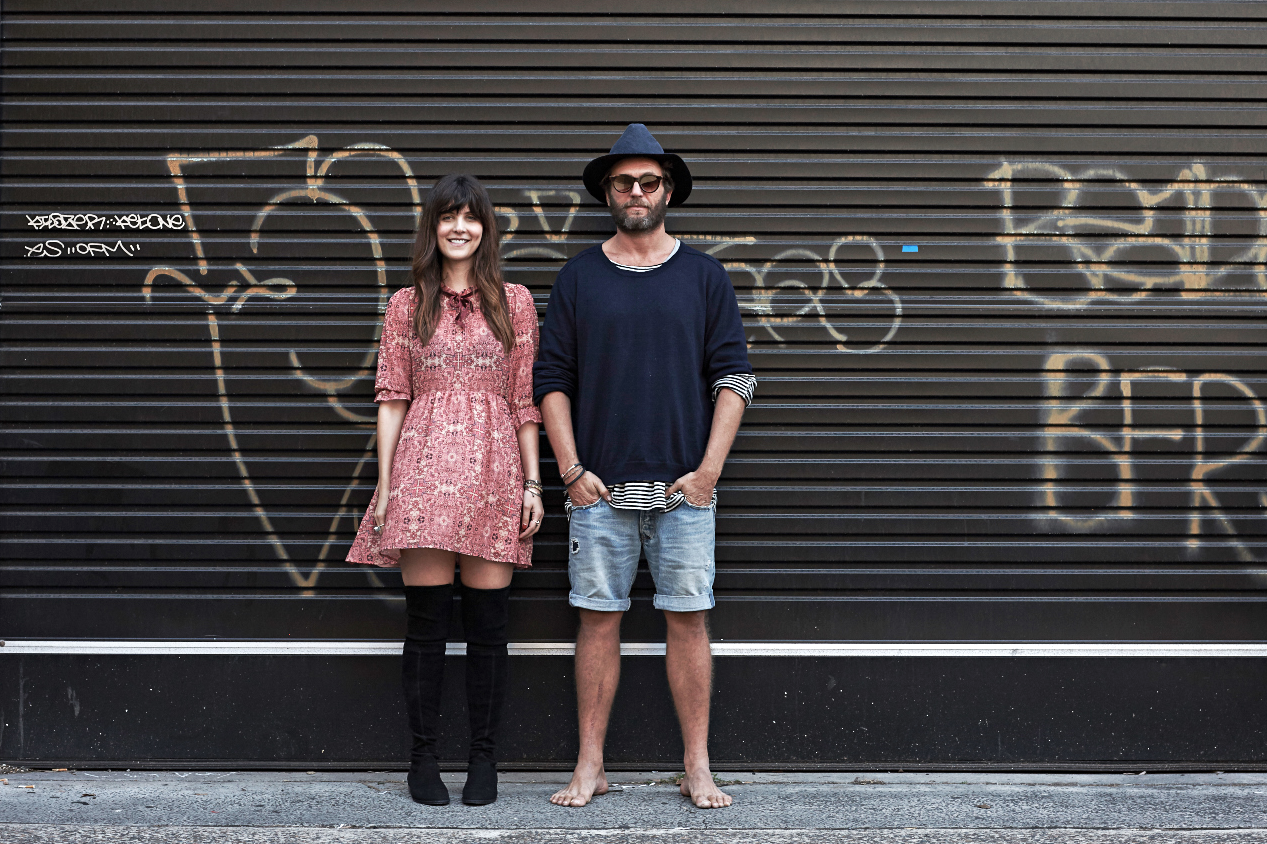 Bow and Arrow  founders and owners Natasha Ianni and Myles Pritchard. Photography:  Richard Whitbread Photography
