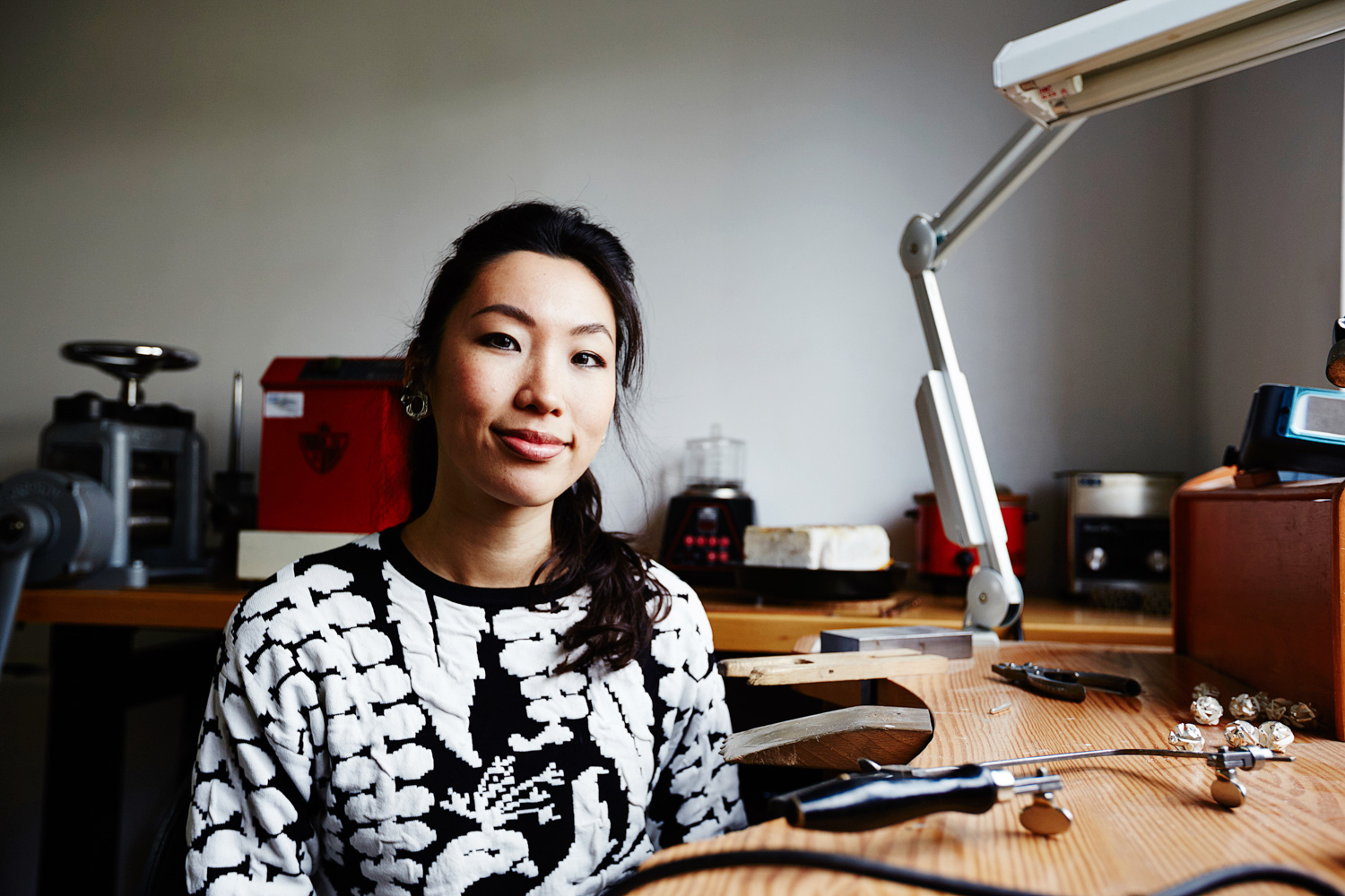 Jewellery designer and maker, Fairina Cheng . Photography by  Richard Whitbread.
