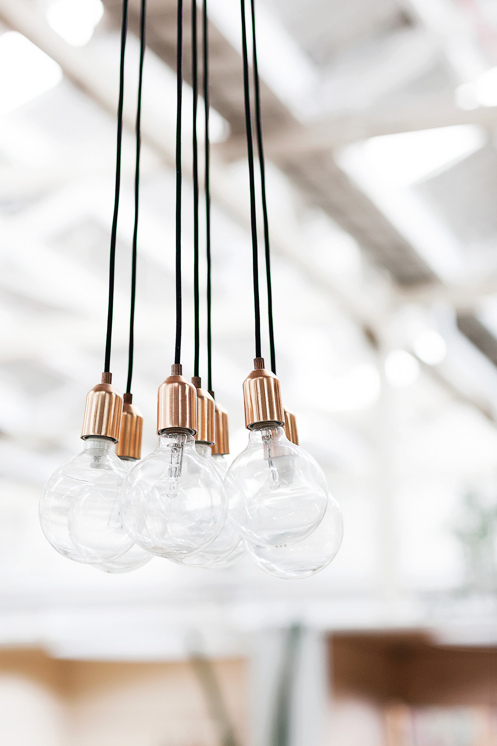 Globe light with copper plug .Koskela in Rosebery.Photography by  Richard Whitbread .