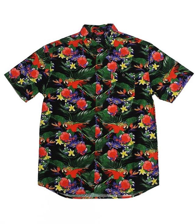 Floral SS Button-down Shop ⇀ @super.massive.shop [link in bio] Iconic Details | Floral print, Peached Poplin Woven, Sleeve-edged for a Streamline Fold, Collar Buttons, Garment Wash for Superb Softness, Chest Pocket w/ Button, Lightweight, Trim-fit Fabric | 100% Cotton Color | Black Multi #artistryinmotionwear #supermassiveshop
