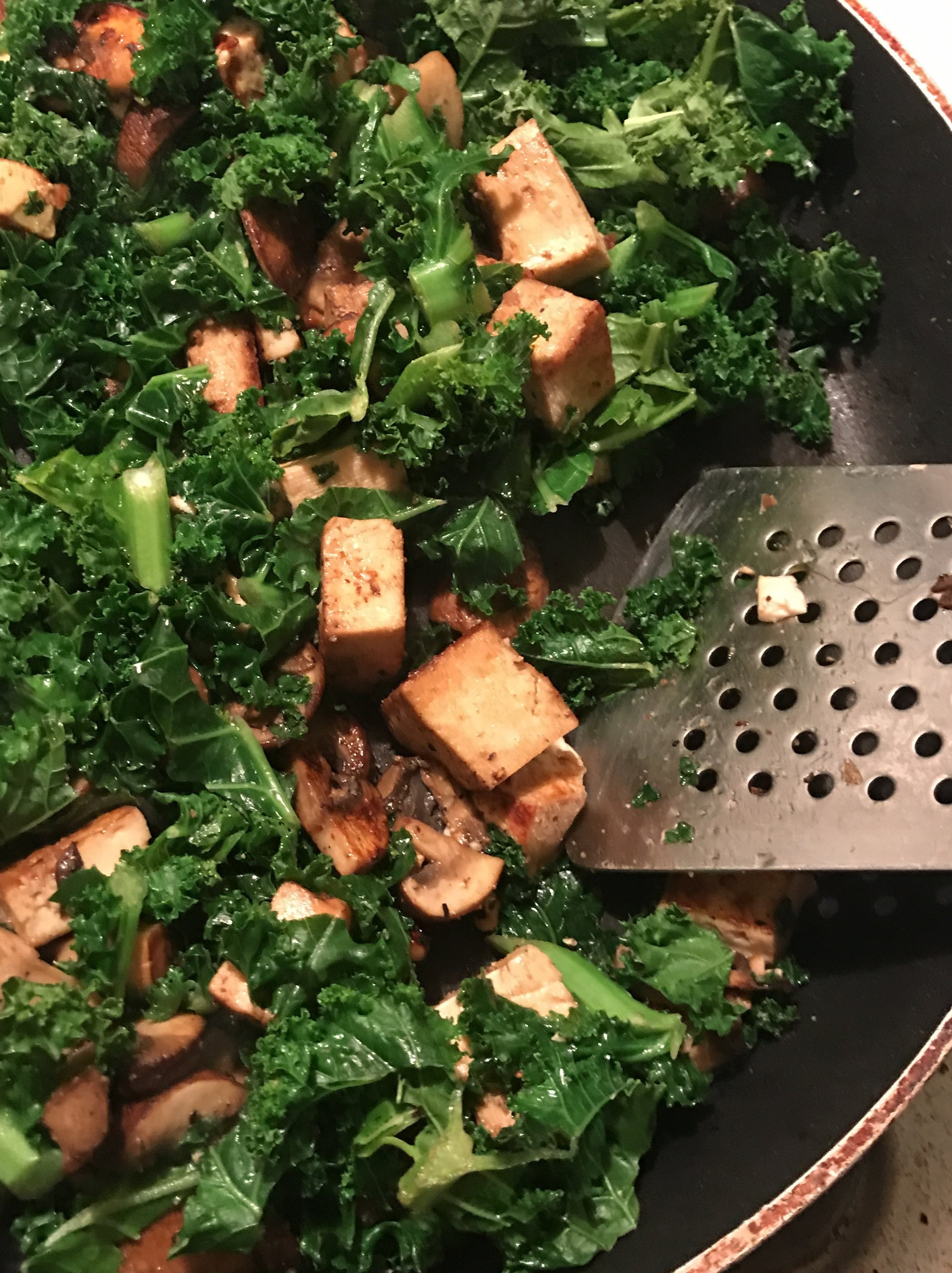 Just kale and tofu