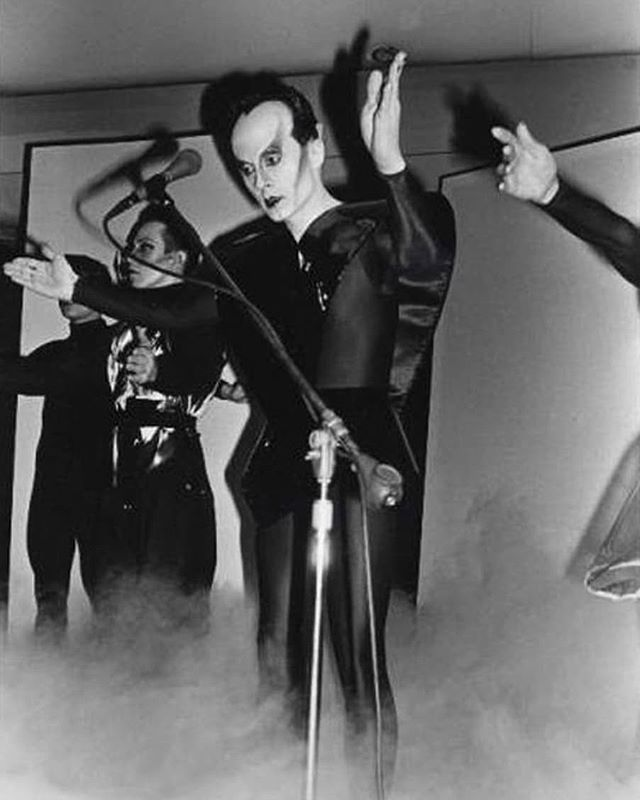 Style pioneer, innovator, progenitor of a slew of pop stars to follow, Klaus Nomi share your effervescent spirit with us! - - - - - - - #klaus #nomi #klausnomi #klausnomiforever #forefathers #thenomisong #1982 #klausnomifanpage #klausnominal #oldschoolcool #portlandmusic #keepportlandweird #portlandoregon #pdxcreatives #portlandmusic #oregonmusic #portlandart