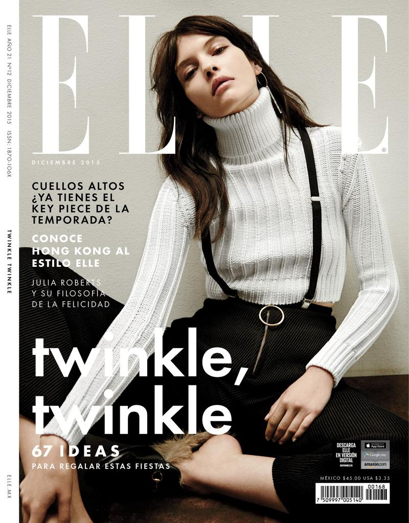Ingeborg make up artist NYC Cover Elle Mexico December