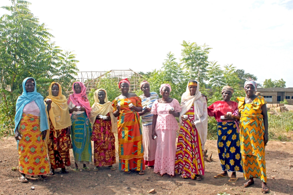 The women of the CMA Shea Butter Cooperative proudly posing with Global Beauty Butter.