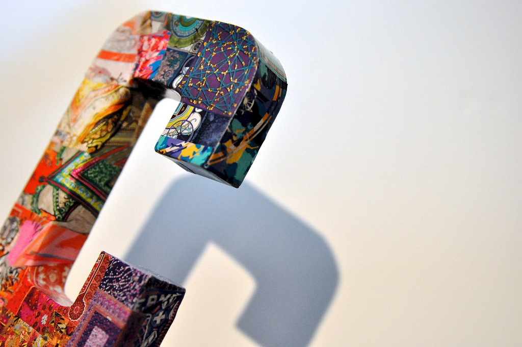 Decoupage letter C featuring designs of Hermès scarves  © Chavelli Tsui www.chavelli.com
