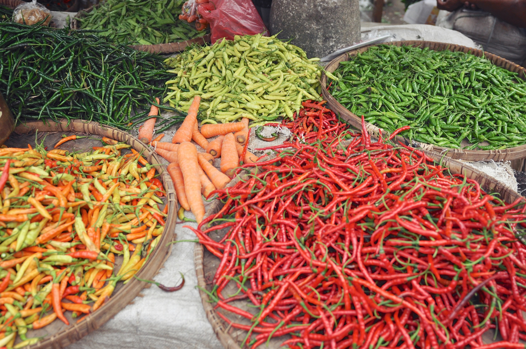 Chilies at Borobudur Market in Central Java, Indonesia | © Chavelli Tsui www.chavelli.com