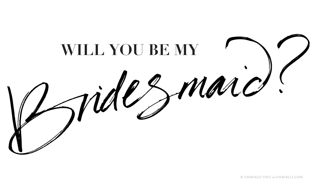 Will You Be My Bridesmaid hand-lettered printable by Studio Chavelli | www.chavelli.com