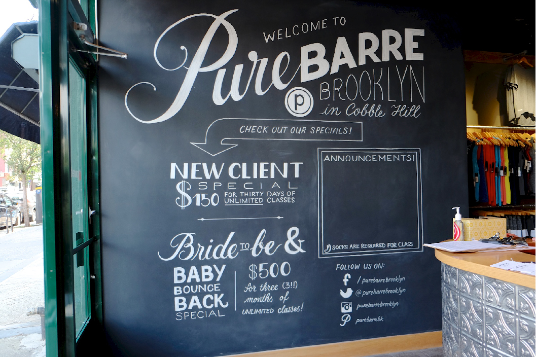 Interior graphic mural in chalkboard lettering by Chavelli | www.chavelli.com