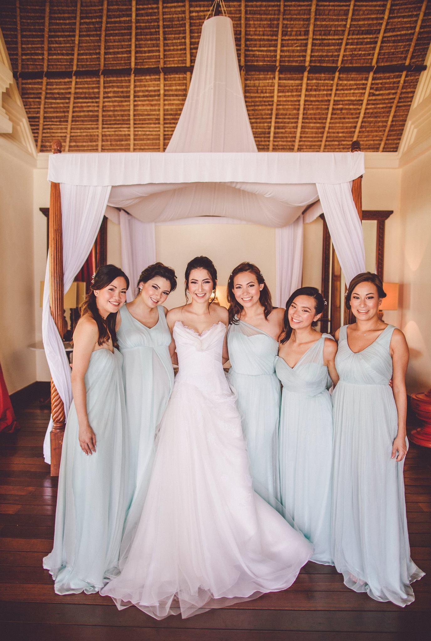 Bridesmaids dresses by Christine Field-Hall | Photo by  Chris Spira
